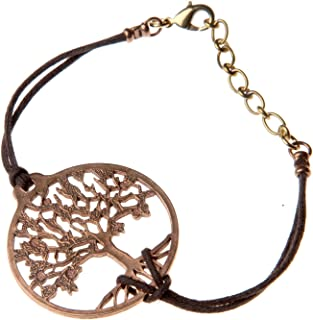 product image for Tree of Life Peace Bronze Adjustable Bracelet