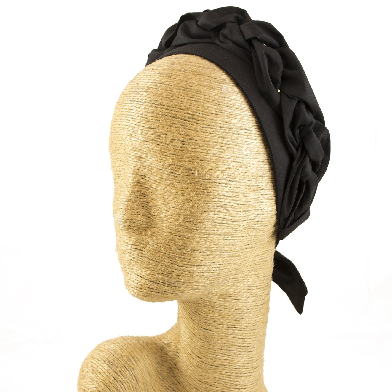 Fascinator, Silk Headbands, Millinery, Worldwide Free Shipment, Delivery in 2 Days, Customized Tailoring, Designer Fashion, Party Hat, Derby Hats, Hair braid, Head wrap, Boho Accessories, Black