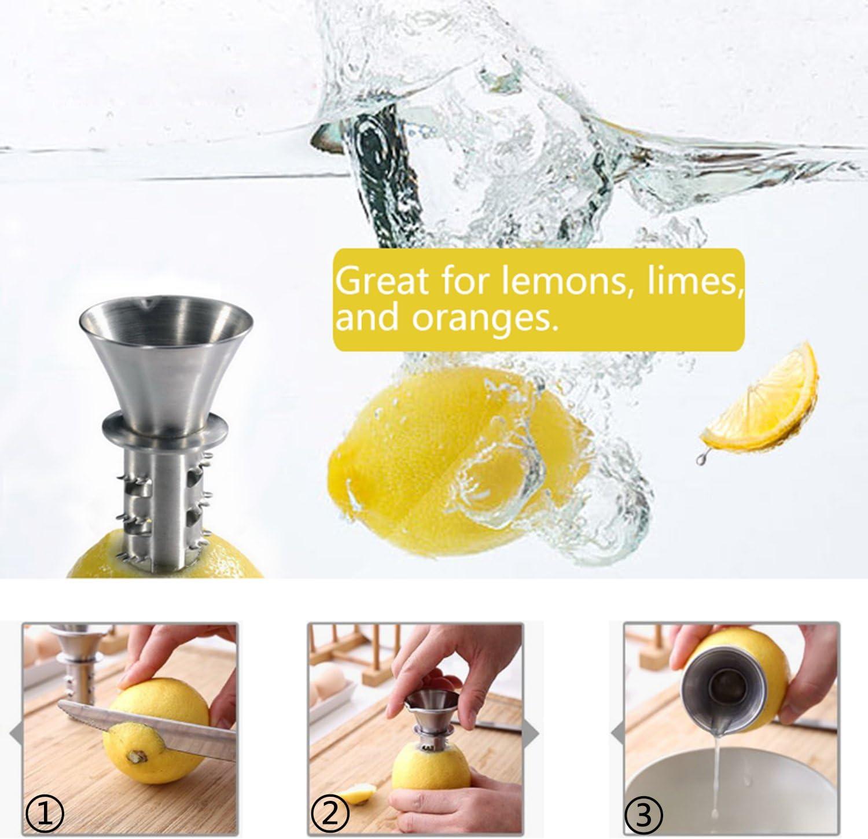 exprimidor manual de lim/ón de acero inoxidable para extraer c/ítricos y vertedor el lim/ón Best Utensils escariador 18//8