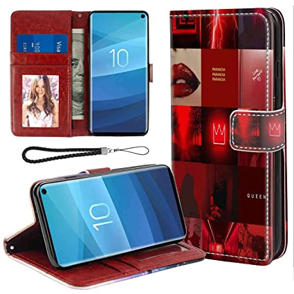 Amazoncom Red Wallpaper Phone Wallet Case Fit For Samsung