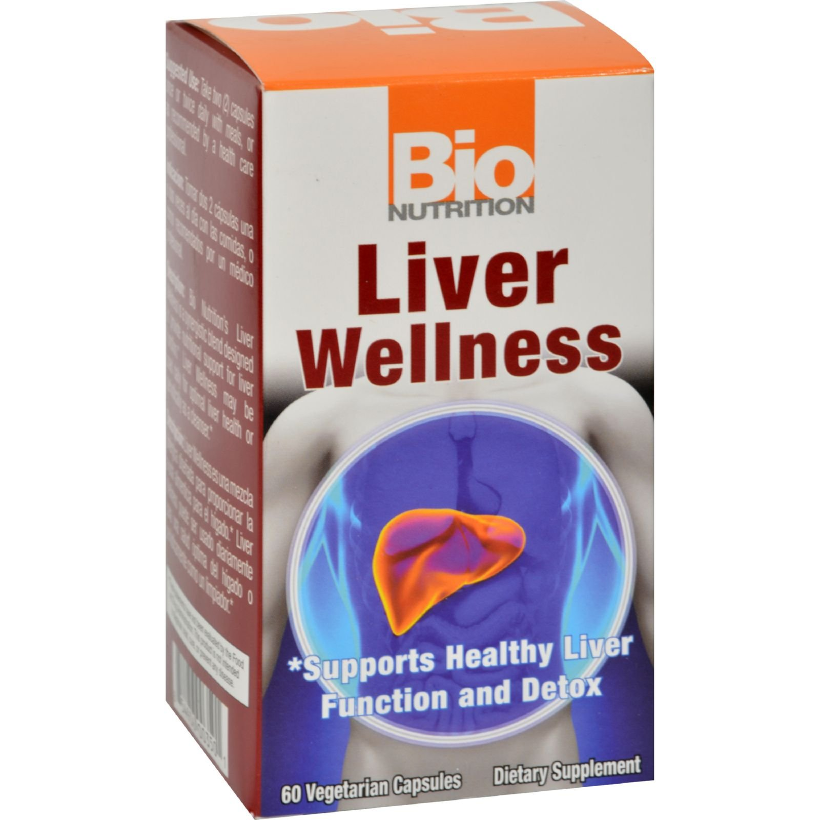 Bio Nutrition Liver Wellness - Support Healthy Liver Function - Gluten Free - 60 Vegetarian Capsules (Pack of 2)