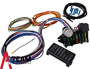 amazon com a team performance 12 circuit universal wire harness a team performance 12 circuit universal wire harness muscle car hot rod street rod new