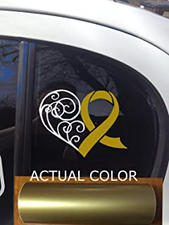 Amazoncom X Childhood Cancer Awareness Ribbon Car Vinyl Decal - Custom awareness car magnet