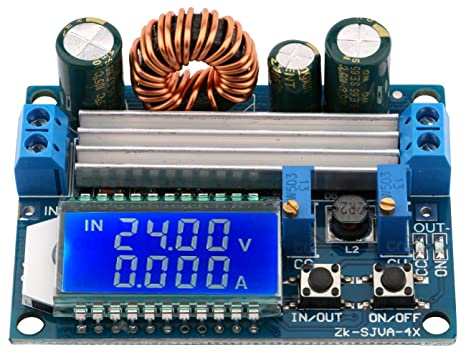 Image result for 4A Buck-Boost Converter Module Adjustable Buck Boost Board With LCD Display