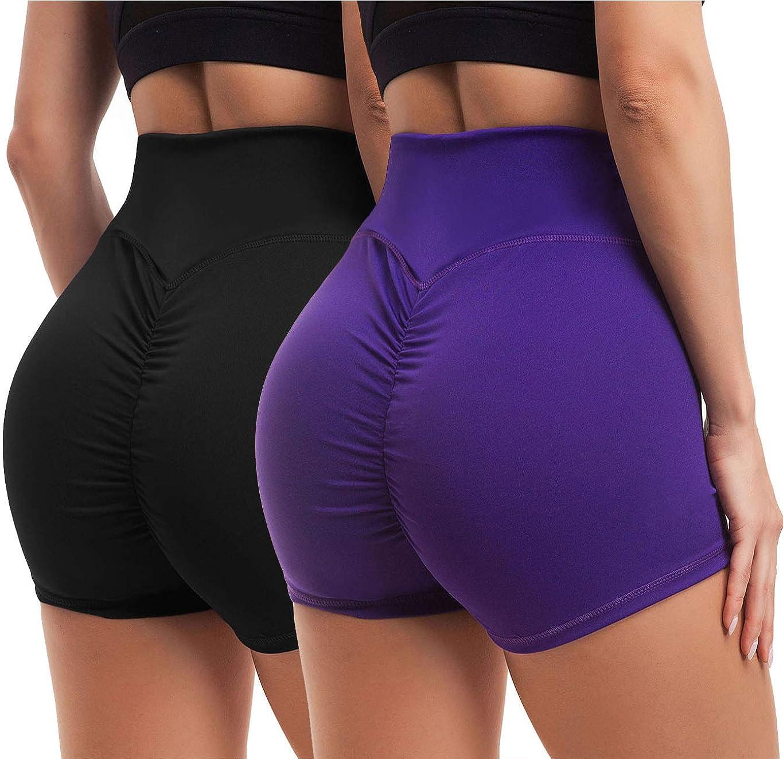 High Waist Butt Lift Compression Running Workout Women Yoga Pants Shorts