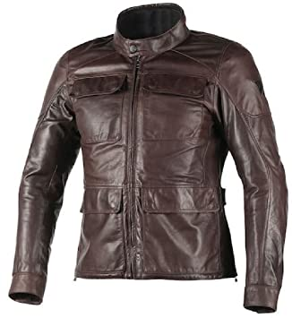 Dainese Richard Leather Classic Motorcycle Jacket Dark Brown 50 Euro/40 USA