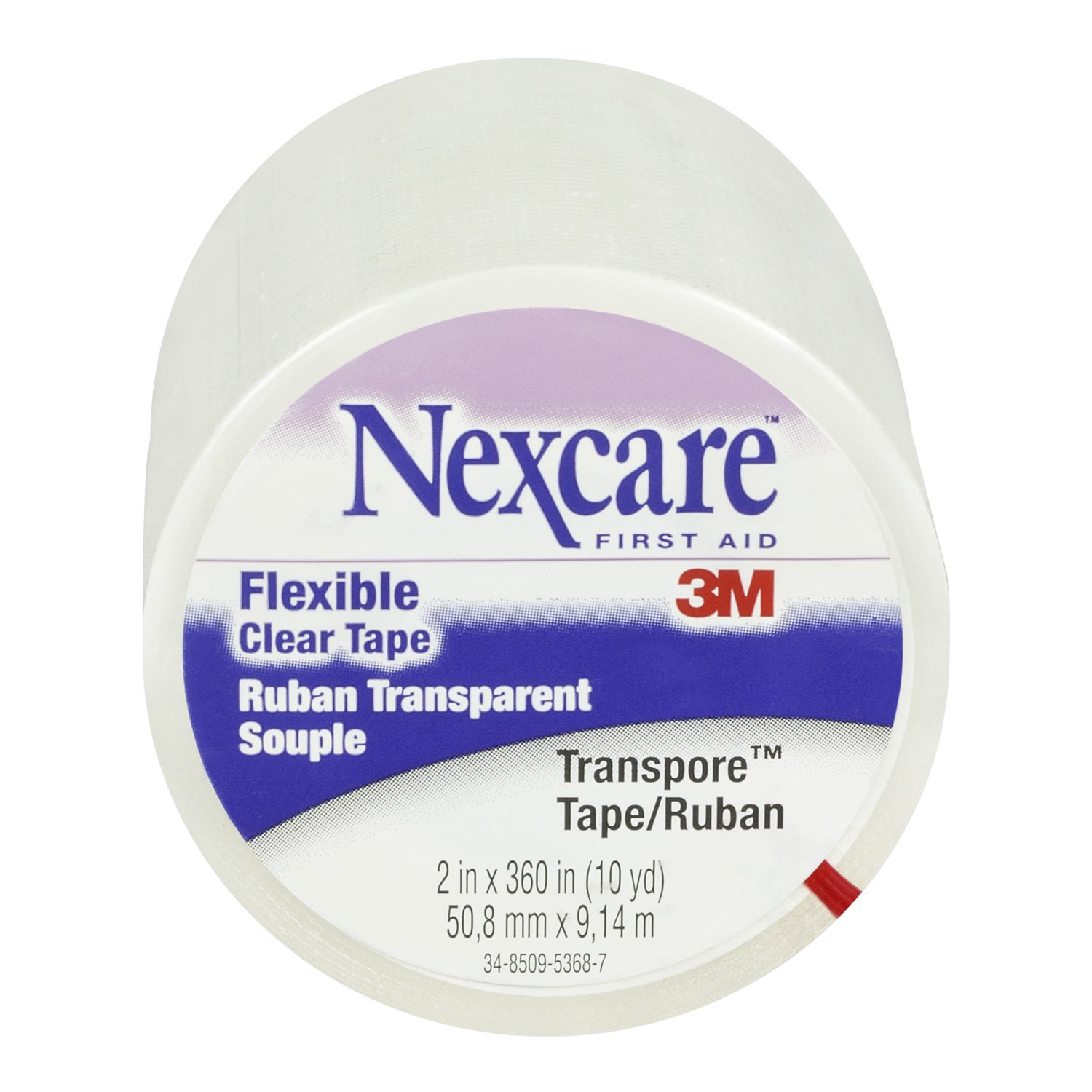 Nexcare Transpore Clear 2-Inch Wide First Aid Tape, 10-Yard Roll (Pack of 4) by Nexcare