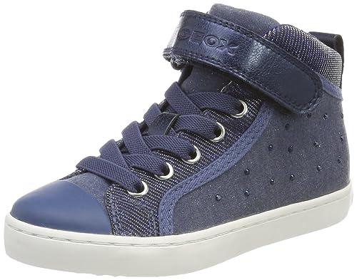 Geox J Kalispera e, Sneaker a Collo Alto Bambina, Blu (Navy), 28 EU