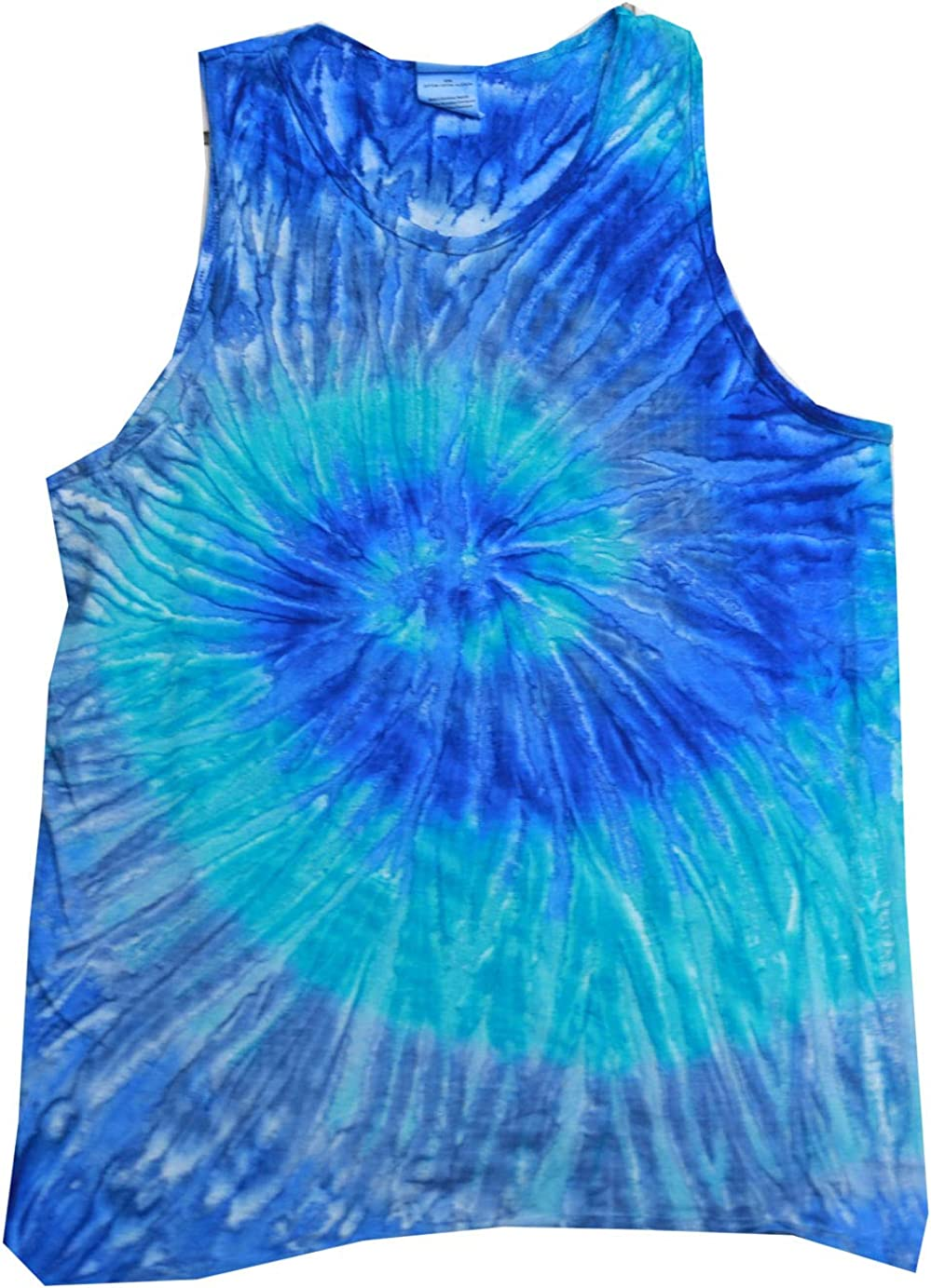Tie Dye Tank Tops Sleeveless Athletic Muscle Shirts 100/% Cotton Multicolor
