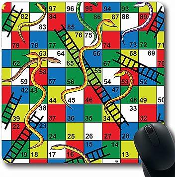 Alfombrillas para computadoras Escalera Serpientes para niños Escaleras Tablero Rompecabezas abstracto Número hacia atrás Ganador del paso hacia adelante Alfombrilla de ratón para juegos antideslizant: Amazon.es: Electrónica