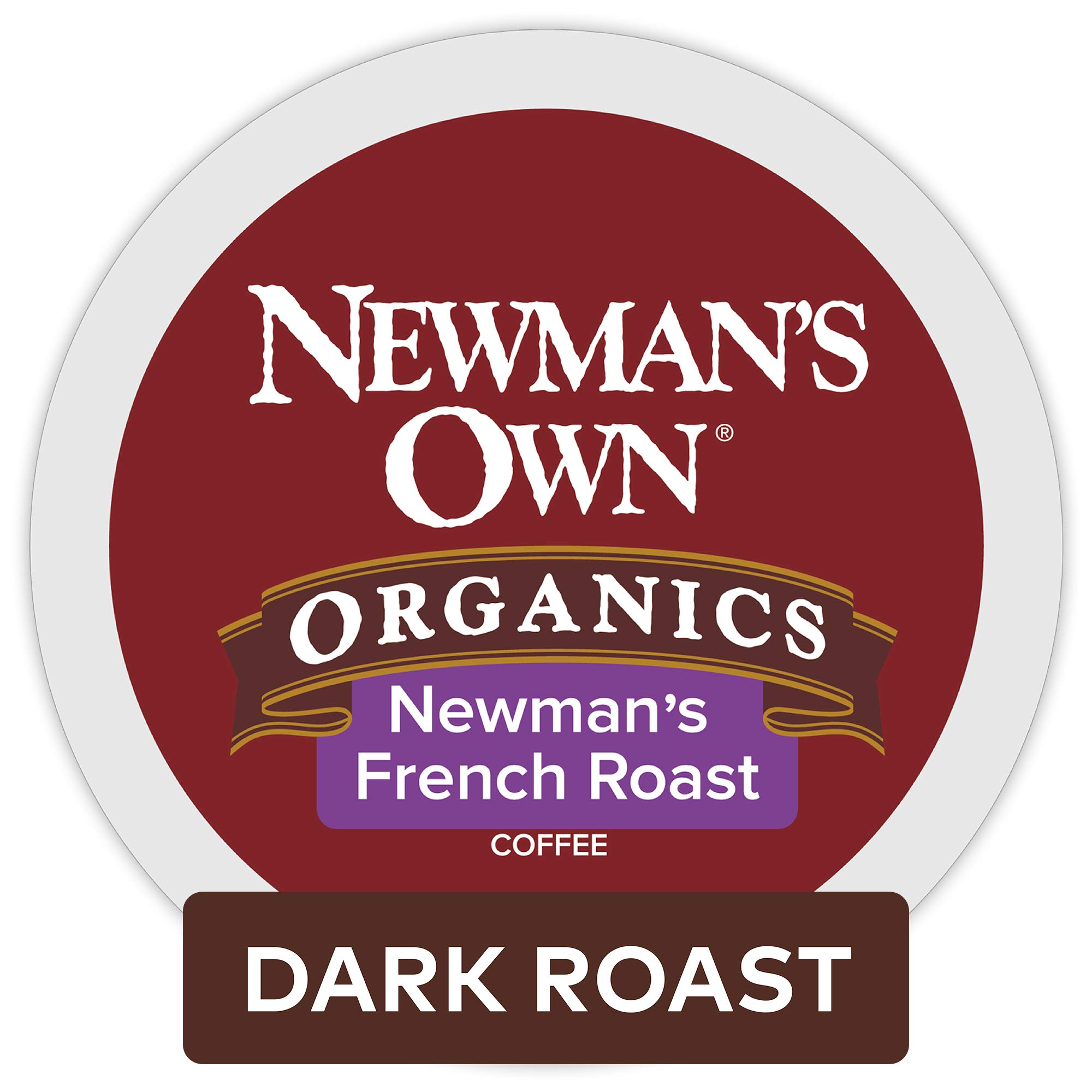 Newman's Own Organics French Roast Keurig K Cup Pods, Dark Roast Coffee, 96 Count