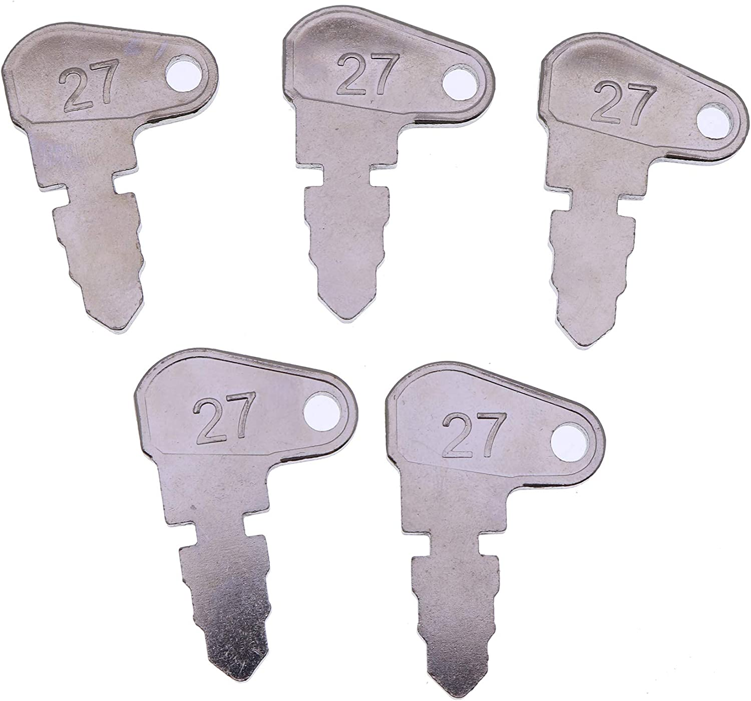 YQI 5PCS B17575 Key for John Deere Bulldozer 450 Loader 350 400 Tractor 300 Forklift 380 480 480A