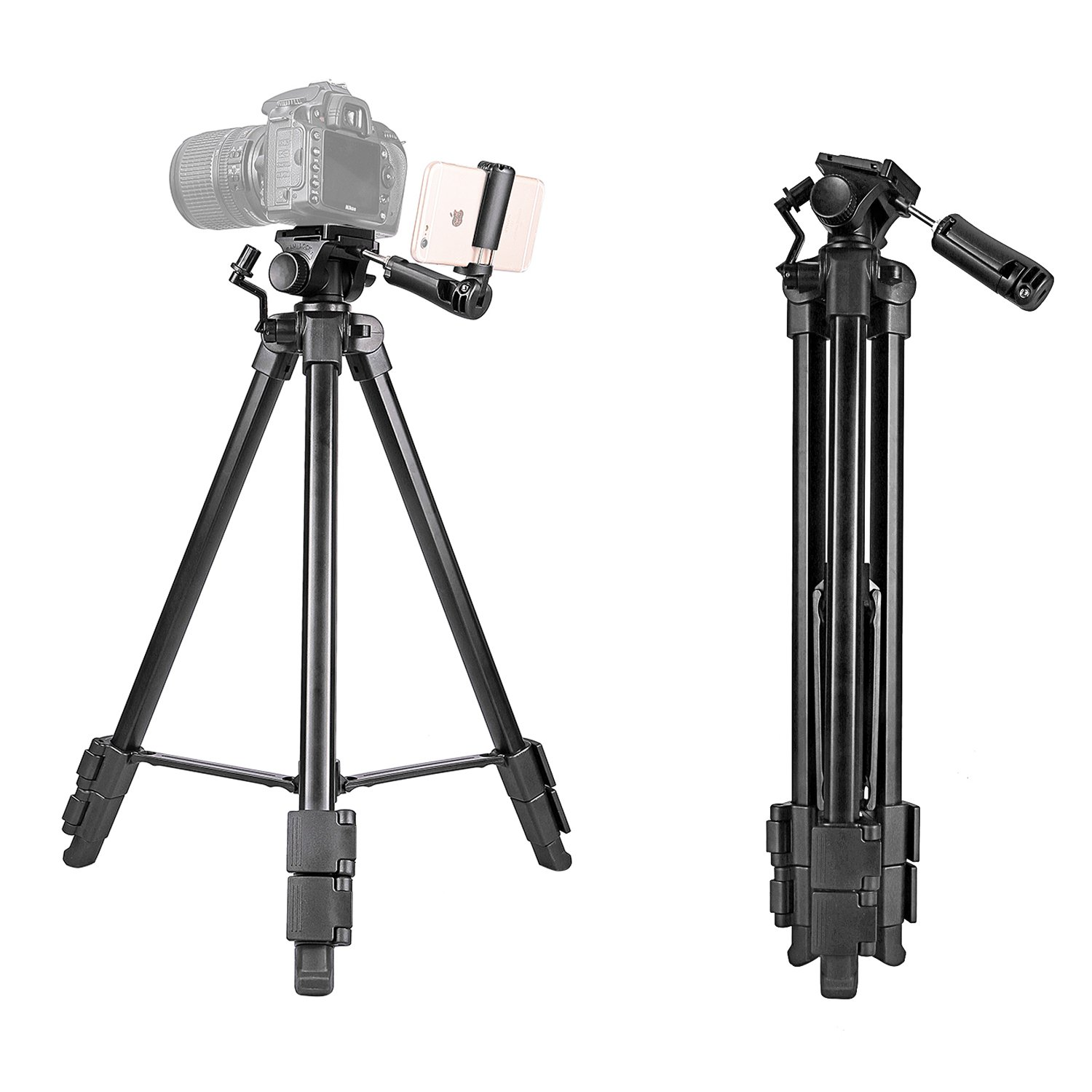 Kamisafe 57 Inch Digital SLR Camera Aluminum Travel Portable Tripod with Carry Bag