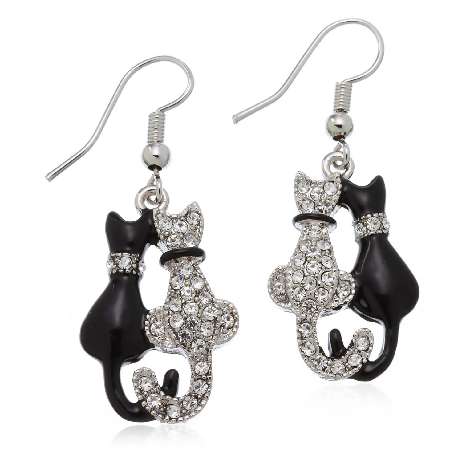 Kitty Cat Earrings PammyJ Cat Jewelry Animal Earrings for Girls