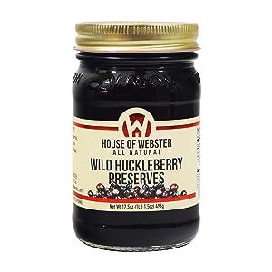 House of Webster Wild Huckleberry Preserves 17.5 oz