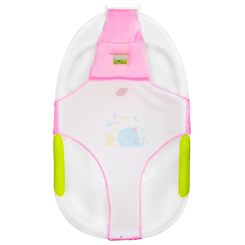 HBF Badewannensitz Baby Badewanne Schätzchen comfort deluxe neugeborenen auf kleinkind Babybadewanne Sicherheitsbadesitz Unterstützung Badezubehör BABRJ9002