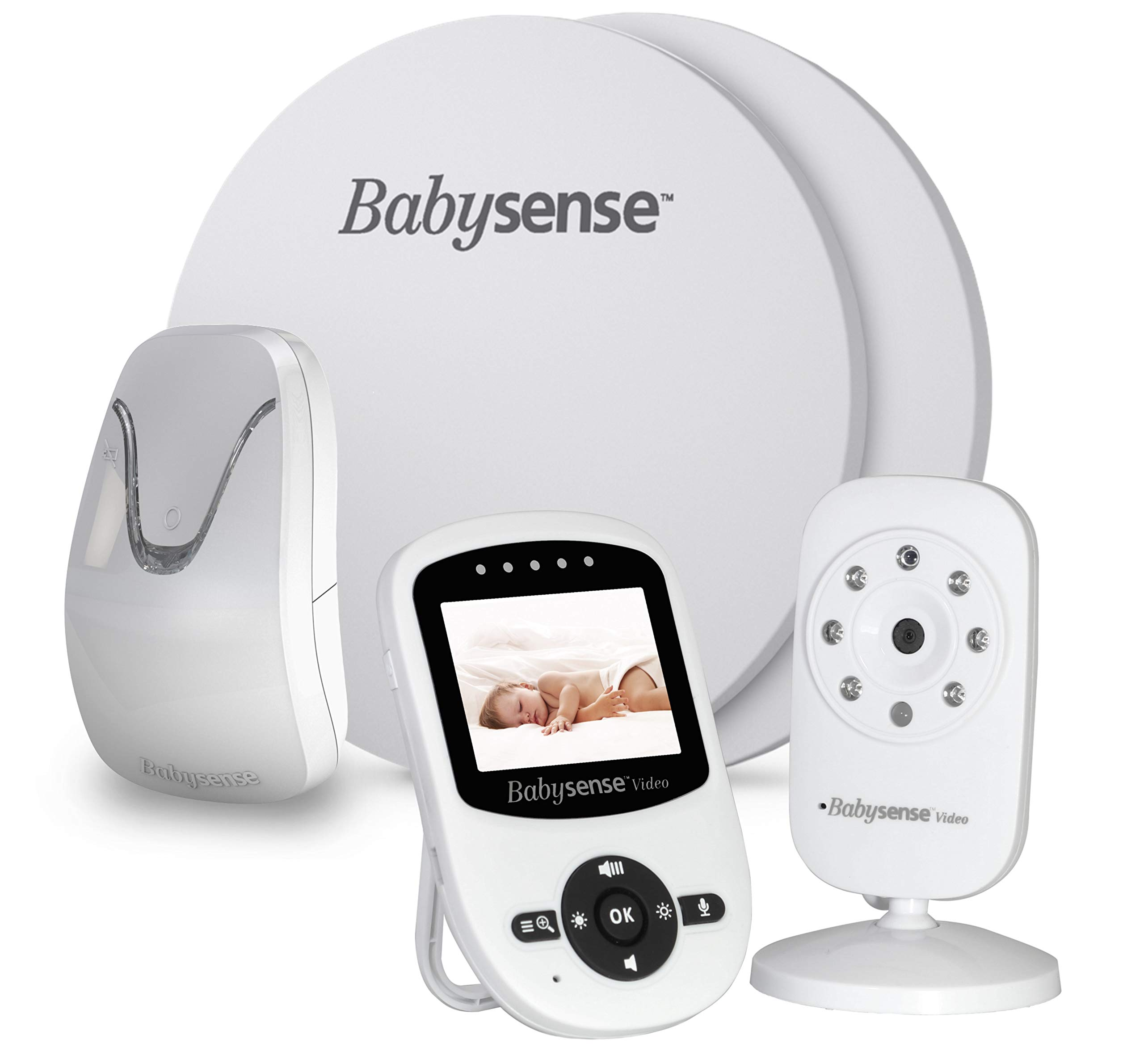 New Model - Babysense Video & Baby Movement Monitor - Bundle Pack - Babysense Video Baby Monitor V24 with Babysense 7 Under-The-Mattress Baby Movement Monitor - 2 in 1 by Babysense