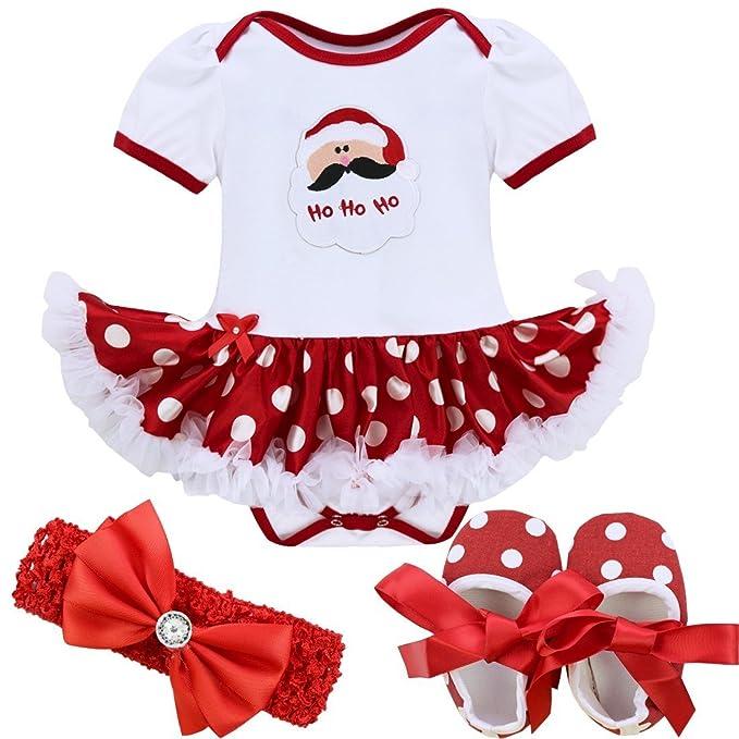 Freebily Vestido de Navidad Fiesta Princesa para Bebé Niña Disfraz ...