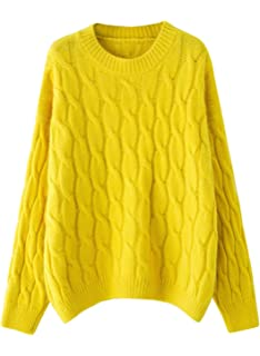 a859639b45 Doballa Women s Mock Neck Sweater Cable Twist Pullover Knitted Long Sleeve  Jumper Tops