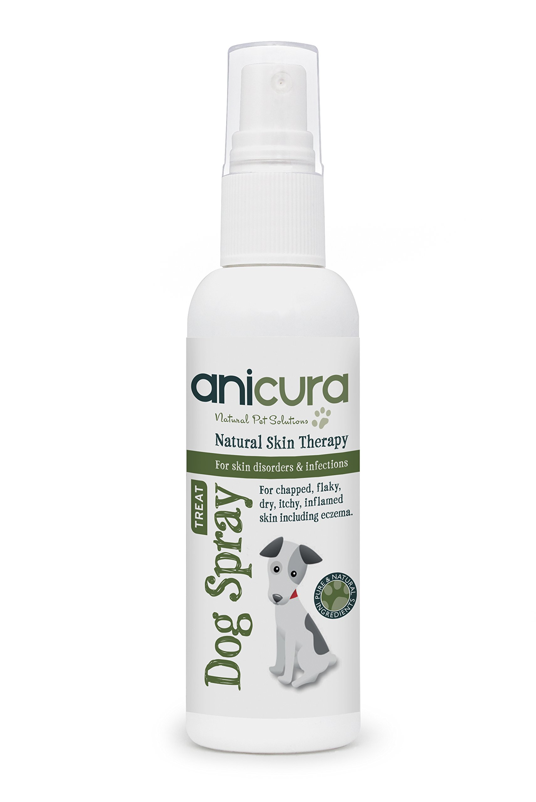 Anicura Natural Spray for Dogs with Skin Allergies, Itchy Skin, Hot Spots or Eczema