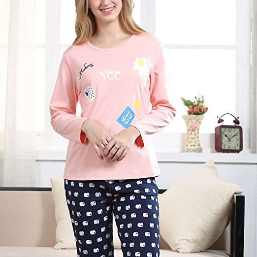 Pyjamas Women Pajamas Pink Pijamas Mujer Pajama Set Big Size Pyjama Femme at Amazon Womens Clothing store: