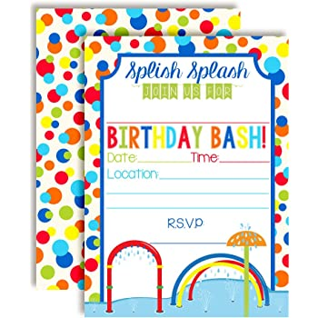 Rainbow Poop Emoji Themed Birthday Party Invitations 20 5x7 Fill In Cards With Twenty White