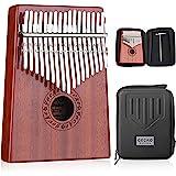 GECKO Kalimba 17 Keys Thumb Piano with Waterproof Protective Box,Tune Hammer and Study Instruction,Portable Mbira Sanza…