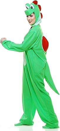 Yoshi-Moto la Verde Dinosaurio para Adulto - Verde - S: Amazon.es ...