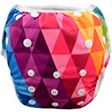 (one size(0-2 years), Diamond) - Babygoal Baby Swim Underwear for Swim Lesson,Reuseable Washable Adjustable Swiming Nappies, Best Baby Gift Sets, Girl Swim Nappy SWD32, one size(0-2 years), Diamond