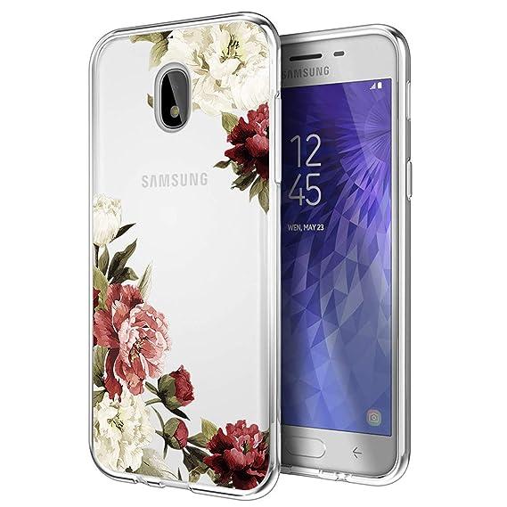 los angeles 987ff ff88f Galaxy J7 Refine Case/J7 2018 Case/J7 Star Case/J7 V 2nd Gen Case/J7 Aero  Case, Ueokeird Slim Shockproof Clear Floral Pattern Soft Flexible TPU Back  ...