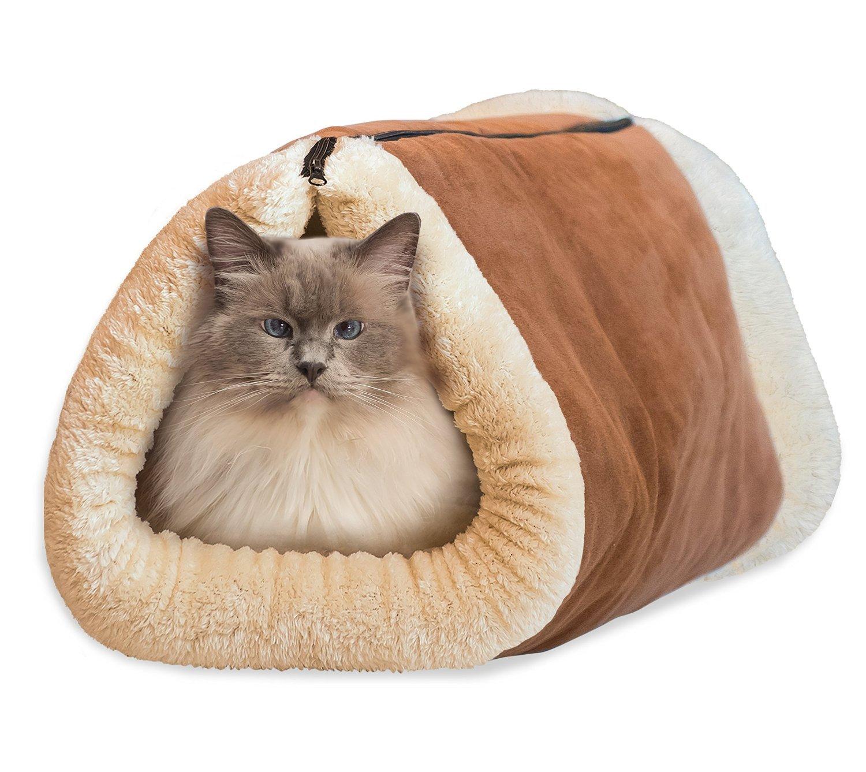fulla21162in 1Tube Cat Matte und Bett groß Pet bett mit selbsterwärmender Thermo Core Teppiche, PET Zubehör PET Zubehör