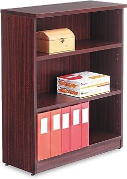 Alera Valencia Series Bookcase Five-Shelf Mahogany 31 3//4w x 14d x 65h