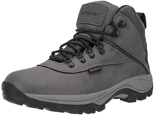 5fa1914a77acf Kitleler Men's Waterproof Hiking Boots Lightweight Outdoor Sandproof Boots