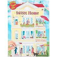 """Depesche 11415 kleurboek """"Create your Sweet Home"""" met stickers, ca. 30 x 22 x 0,5 cm groot, met 24 kleurrijke…"""