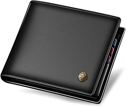 Business Casual Wallet Men Top Layer Leather Purses Male Short Wallets Slim Money Bags