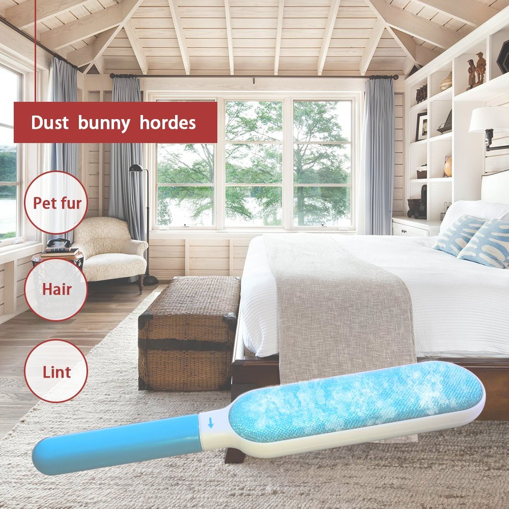 Foxmum Fur Remover with Self-cleaning Base Magic Pet Hair Lint Brush for Clothes and Furniture by Foxmum (Image #5)