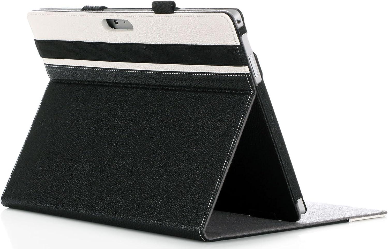 ProCase Surface Pro 7 / Pro 6 / Pro 2017 / Pro 4 / Pro LTE/Pro 3 Case - Folio Cover Case for Microsoft Surface Pro 6 / Pro 2017 / Pro 4 / Pro LTE/Pro 3, Compatible with Type Cover Keyboard –Black