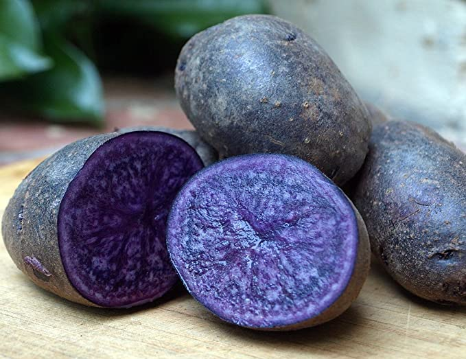 Purple Majesty Certified Organic Seed Potato 5 lb. Bag - Heirloom - Great Taste!