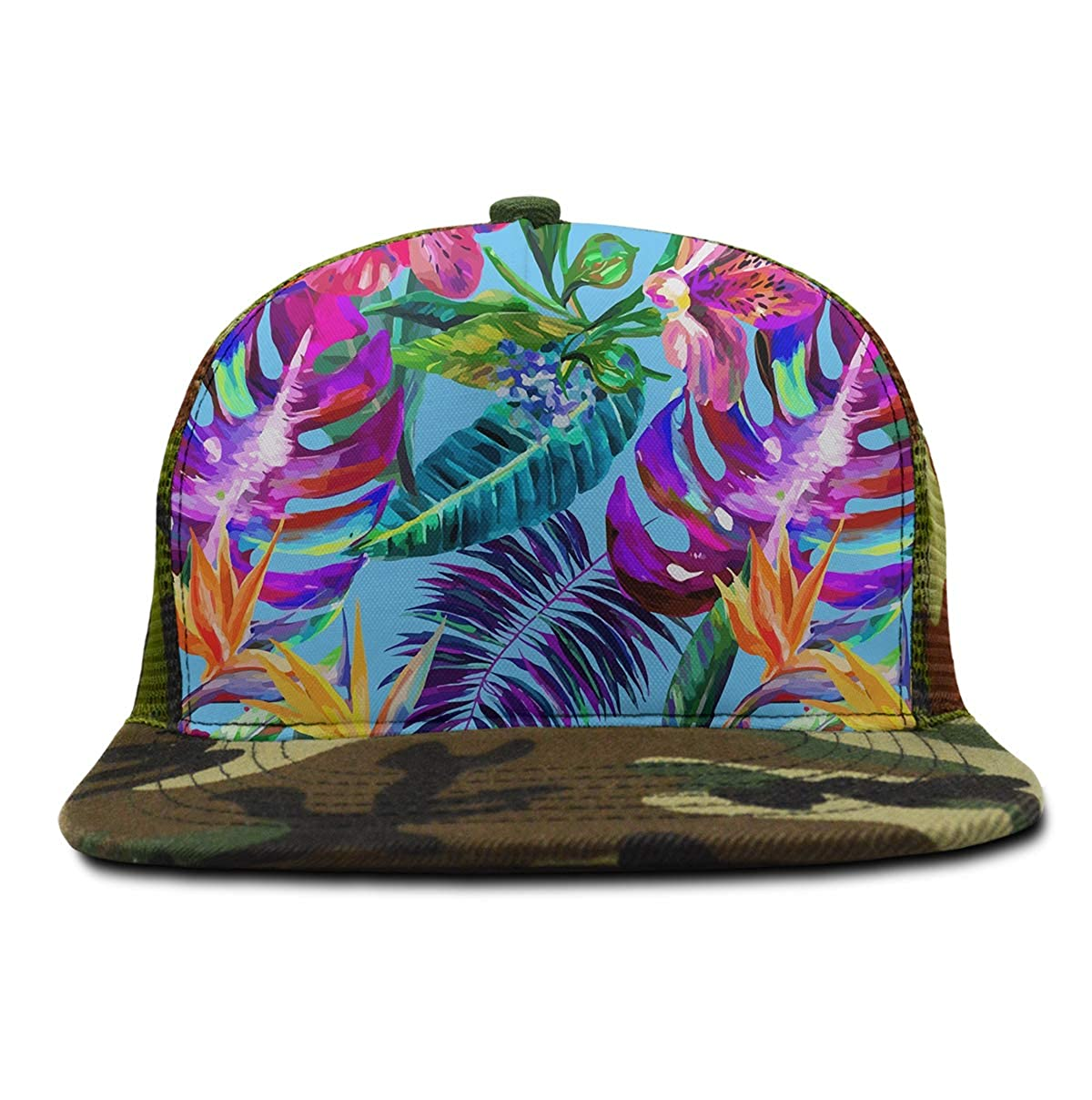 Adjustable Baseball Cap Dad Hat Men Women-Island Style Floral