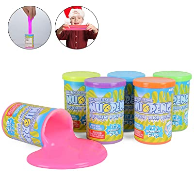 NuoPeng Slime Putty Toy 6pcs Multi Pack Kit, 3.5 OZ/Bottle, Super Soft & Squishy Toy for Party Favor, Stress Relief, Easter Egg Stuffers Non-Toxic: Toys & Games