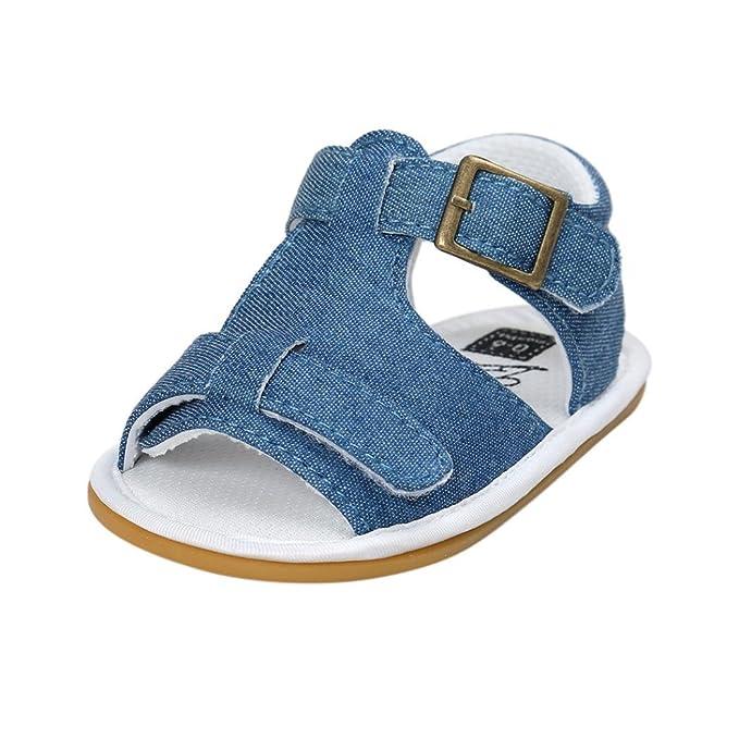 90e5d262 Fossen Verano Zapatos Bebe Niño con Suela Dura Caucho Sandalias de  Antideslizante Zapatillas: Amazon.es: Ropa y accesorios