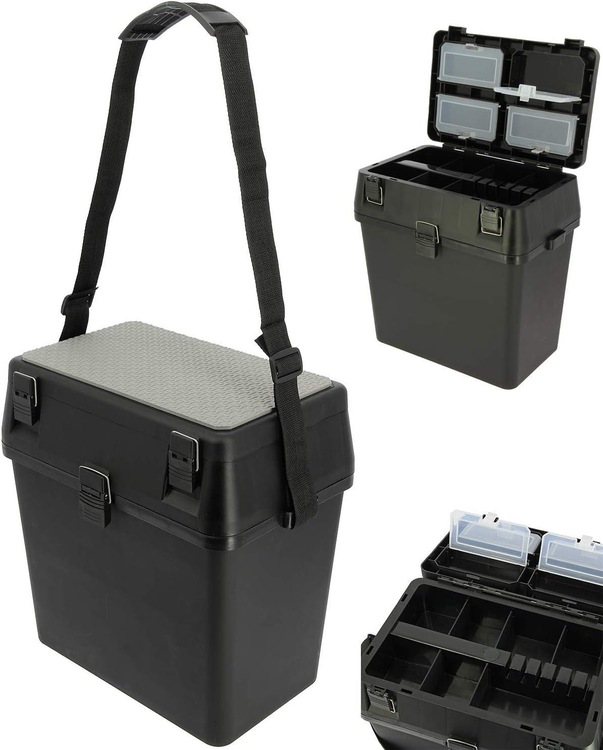 Strap and Seat Mat DNA Leisure Carp Coarse Sea Fishing Black Session Tackle Seat box