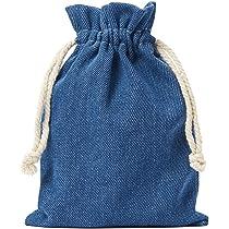 10 bolsas de tela de vaquero, bolsitas de algodón en celeste ...