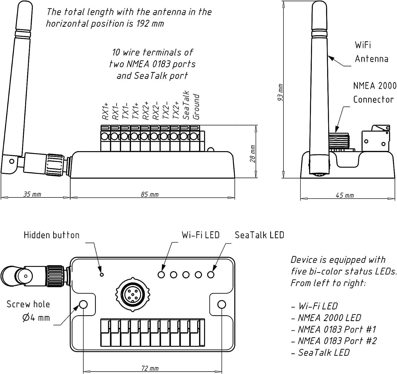 Yacht Devices NMEA 2000 WiFi Router YDNR-02N