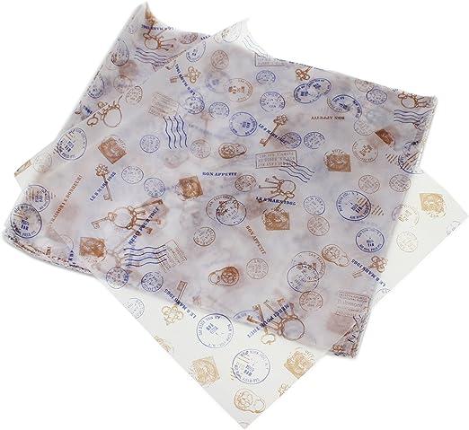 1 Envoltorio de papel encerado antiadherente PsmGoods/® para pasteles o pan 100 unidades