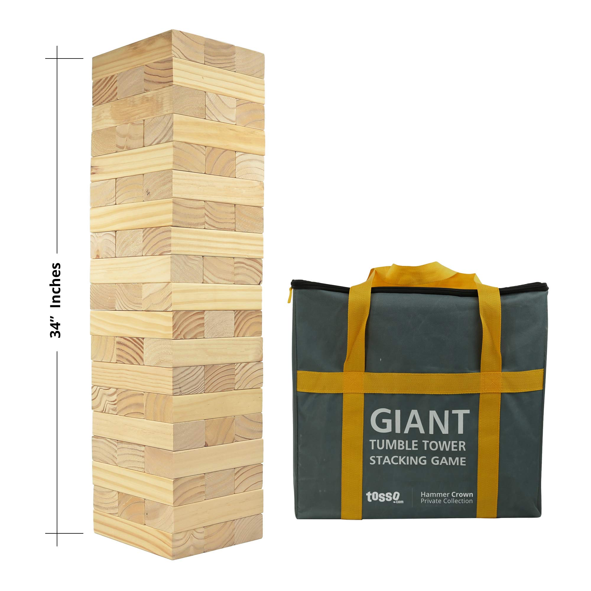 Hammer Crown Giant Tumble Tower V2.0 XXL; with Free Bonus Block Bottle Opener