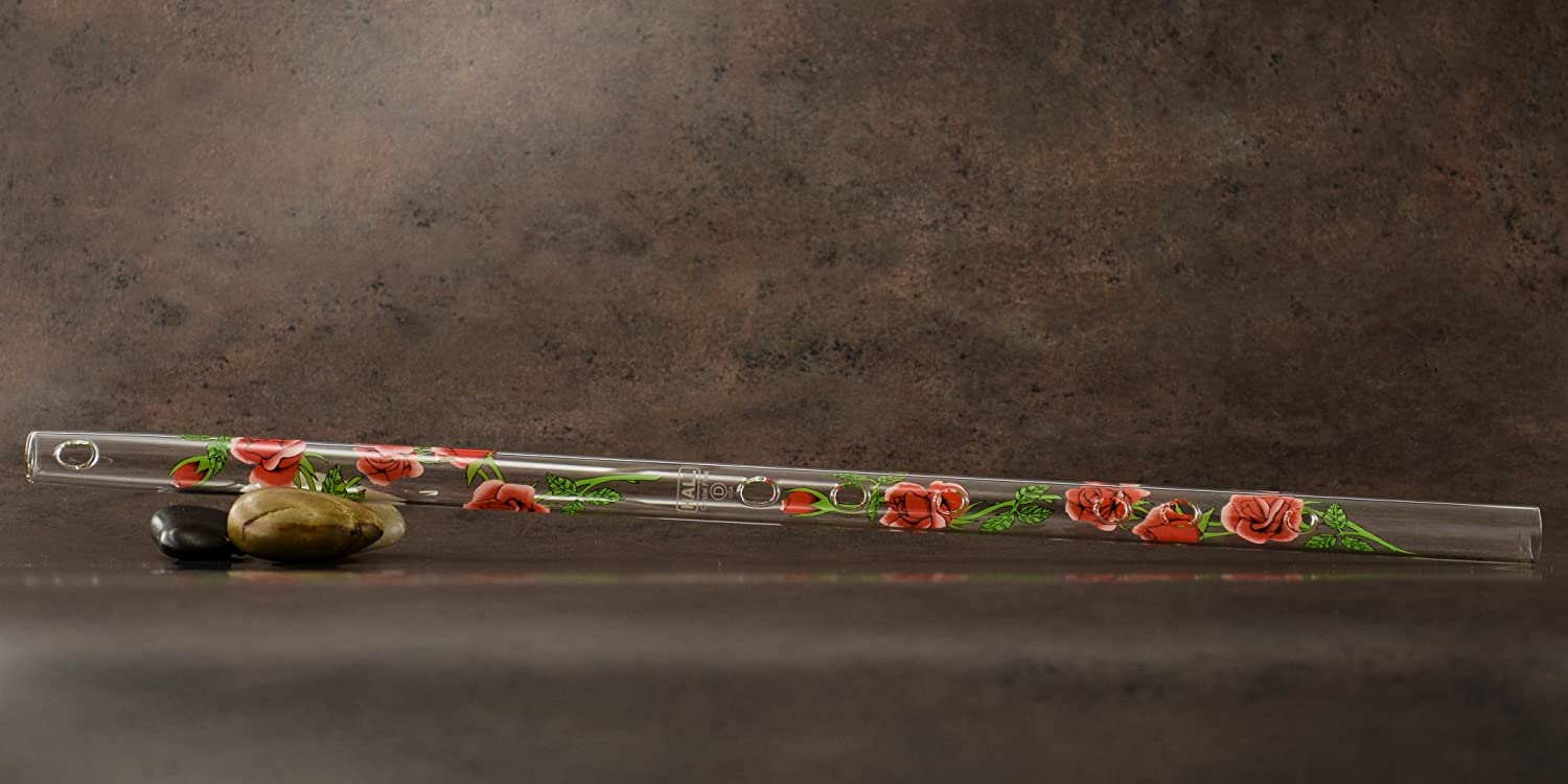 Offset Glass Flute in D Hall Crystal Flute 22203 Dragonfly