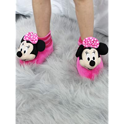NEW Disney Collection Girl/'s Pink Minnie Mouse 3D Slippers Choose your Size