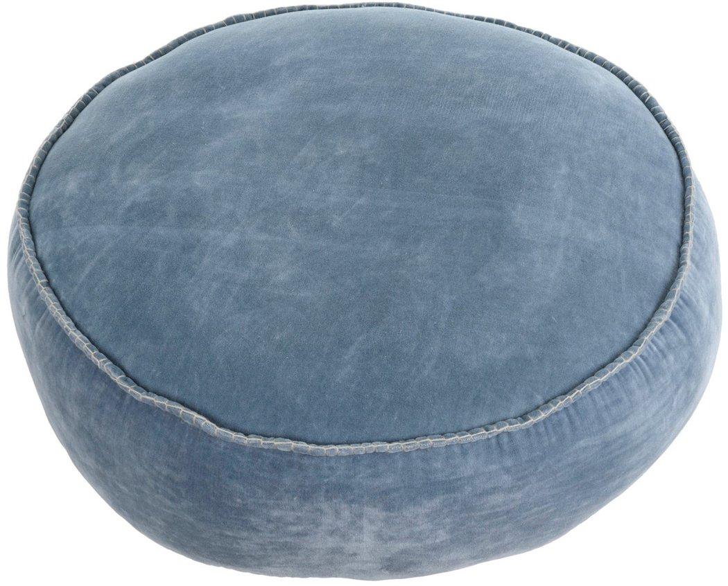 Indaba Denim Velvet Stitch Pouf Floor Pillow