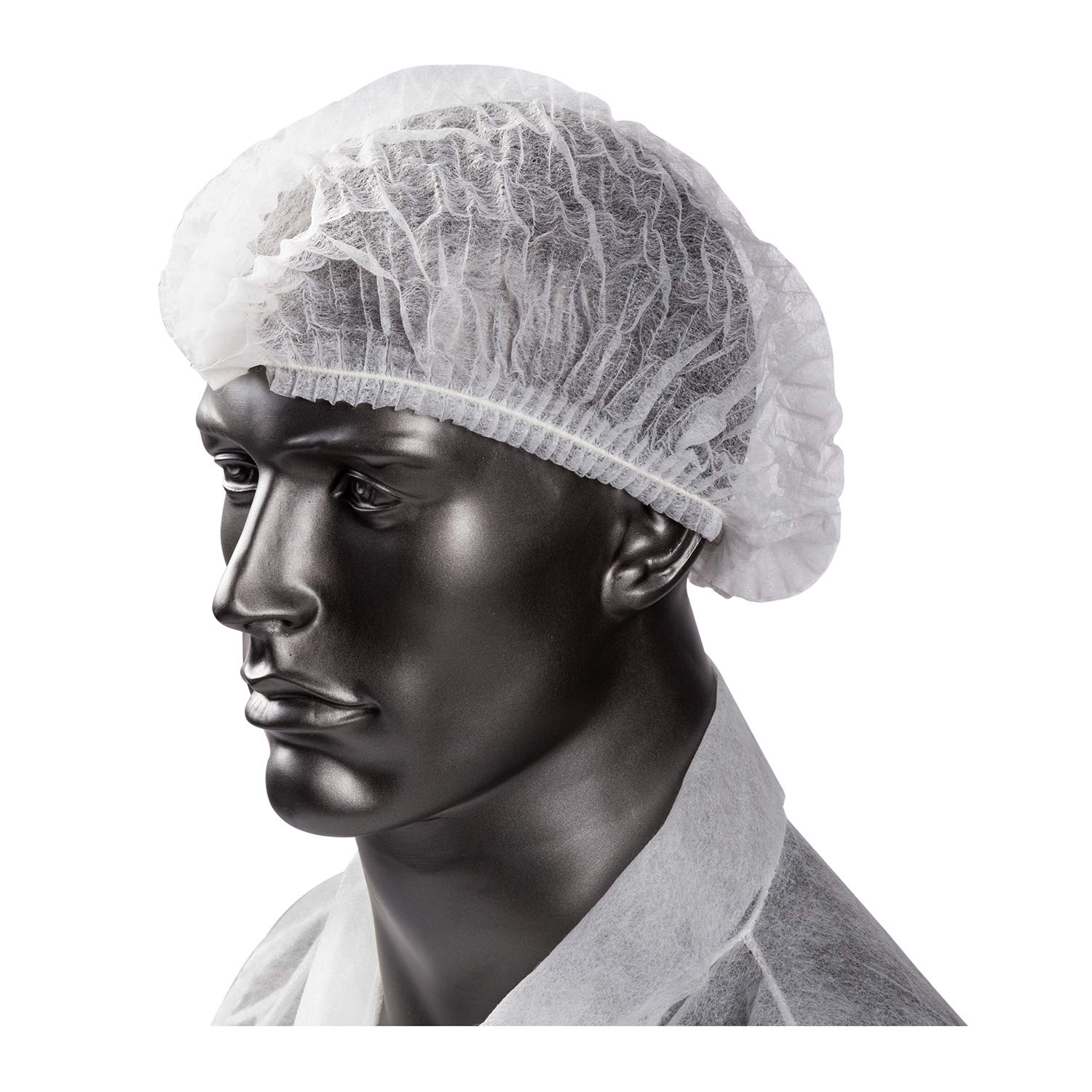 Royal 21 Inch White O.R. Cap, Disposable and Latex-Free Pleated, Case of 1000 by Royal (Image #2)